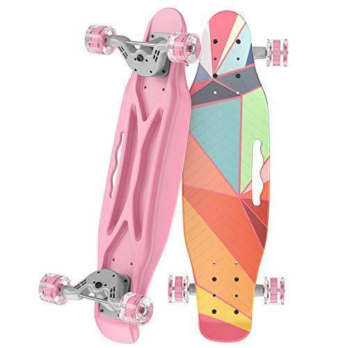 COLEIO Complete Skateboard, 23.2 Inches Plastic Mini Classic...