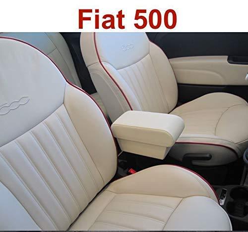 Filocar Design Armlehne Fiat 500 creme in Riva Leder