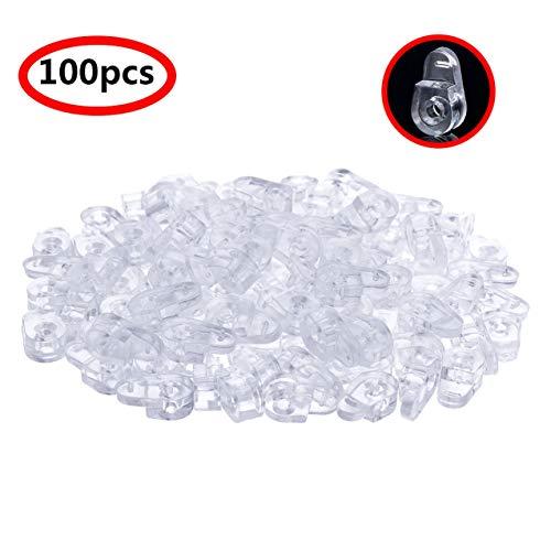 inlzdz 100 Stück Möbel Zubehör Glas Clips Klammern Transparent Kunststoff Halter Clip für Bildschirmpaneele, Fenster, Vitrinen, Badezimmerspiegel, Weinschrank Type A One Size