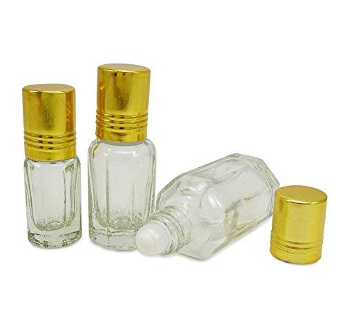 50 x 10 ml clairs vide pain en verre sur les bouteilles de Attar flacons roulants huiles essentielles d'aromathérapie rechargeables gros roll-on bouteille de parfum