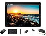 GOODTEL 10' Tablet Android 10 Pro Tablette mit 8 Core Prozessor 1,6 GHz 4 GB RAM + 64 GB ROM 8000 mAh Akku | 5MP + 8 MP Dual Kamera | WiFi | Bluetooth | MicroSD 4-128GB, mit Tastatur und Maus, Schwarz