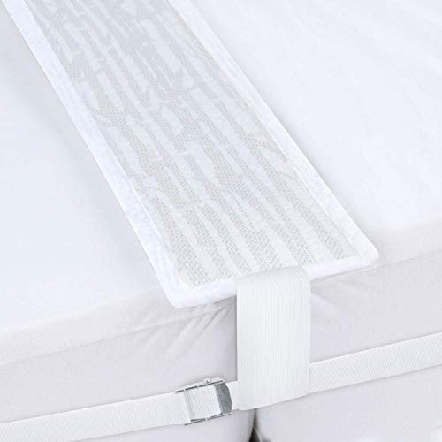 SPRINGSPIRIT Bed Bridge Twin to King Converter Kit - Improved Style, Mattress Strap Include, Twin Bed Connector for 2 Single Twin Mattress, Easy Assemble, Great for Stayovers & Guest.
