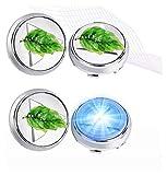 Cubierta del Cubo de levitación magnética, for Mitsubishi Outlander Montero, tapacubos de ruedas Centro de Luz flotante Led luminoso del logotipo de eje del centro casquillos de 58mm / 60mm, 4pcs / se