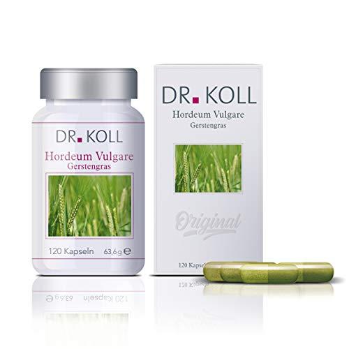 Dr. Koll Gerstengras Hordeum Vulgare | Pflanzenextrakt, 100 % vegan | Höchste Bioqualität, in Deutschland angebaut und hergestellt | Natürliches Nahrungsergänzungsmittel (120 Kapseln, 63,6 g)