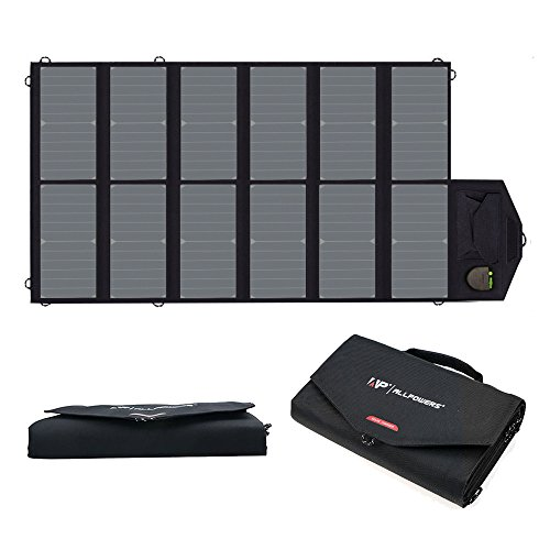 ALLPOWERS 80W Foldable Solar Panel SunPower Solar Charger with Solar Technology for Laptop, Tablet, ipad,Smartphone, iPhone, Samsung, Acer, Asus, Dell, HP, Toshiba, Lenovo Notebooks, Laptops and More
