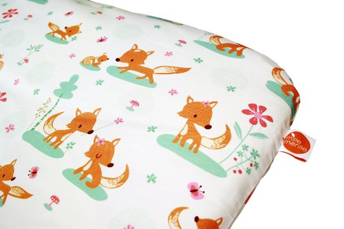 Wickelauflage sweet foxes I 83x75cm I ökotex I phtalatfrei I Bezug abnehmbar I wasserfest