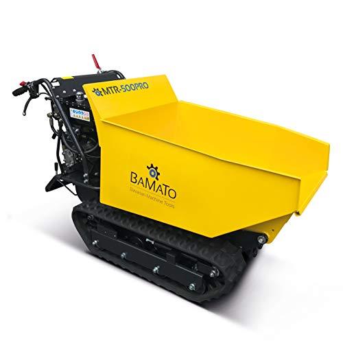 BAMATO Mini Raupendumper/MTR-500PRO / Zuladung: bis 500 kg, kraftvoller 9 PS Motor, 6 Vorwärts- und 2 Rückwärtsgänge