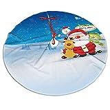 Bokueay Falda de árbol Christmas Snowmans Trees Mat Adornos navideños rústicos Suministros para Fiestas navideñas para supermercado Decoración navideña 48 Pulgadas
