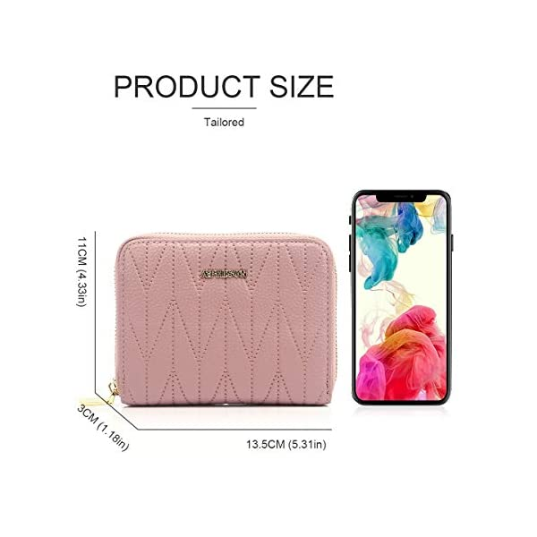 APHISON RFID Credit Card Holder Travel Leather Wallet for Women 20/36 Card Slots