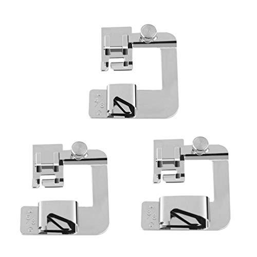 PRETYZOOM 3-Delige Naaivoetenset Naaimachine Metalen Naaivoet Duurzame Zoomvoet Rolzoomgereedschap Naai-Accessoires Voor Kleermakers (4/8 + 6/8 + 8/8)