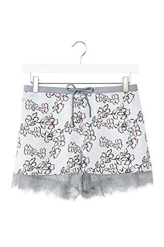 Pretty You Dames nachtkleding Shorts - bloemen in eend ei blauw