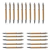 Jcevium Juego de bolígrafos de bambú y madera, 60 unidades, color azul