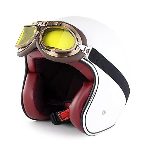 Cascos Half Helmet Casco de la Motocicleta Abre el Casco Facial Valence Harley Verano Half Casco Casco Casco de Seguridad Casco de Seguridad Dot/ECE Certificación Cruiser Tajado Patín Bokest Casco