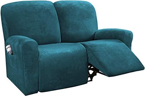 WLVG Funda reclinable, funda de sofá, 6 piezas de protector de muebles, cojín de sofá, forma de felpa de terciopelo rico, adecuado para la moda elástica, parte inferior suave y elástica (B)