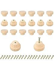 Bocotoer 20PCSs Houten Ladeknoppen Houten Knoppen voor Laden 40mmx25mm voor Kabinet Lade Schoenendoos Kabinet Deur…