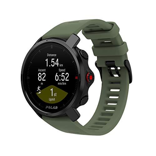 Polar Grit X Outdoor Multisport Watch GPS, Bussola, Altimetro e Robustezza in Linea con lo Standard Militare, Trail Running, Mountain Bike, Batteria di Lunga Durata, Nero Verde, M L