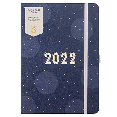 Busy B Day A Page Diary January to December 2022 - A5 Navy Spot Planner...