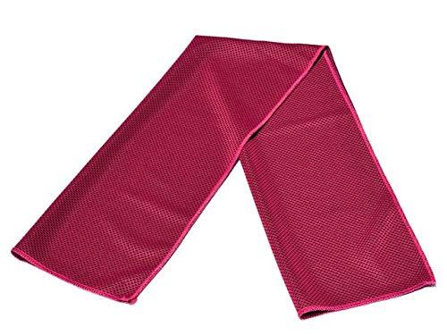IAMZHL Yoga Fitness Toalla fría Toalla de baño Grande Microfibra Transpirable de Secado rápido Deportes Playa Natación Viaje Camping Toallas Suaves Nuevo-Rose Red-82 X 30cm