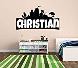 Custom Name Wall Decal - Famous Game - Wall Decal for Home Bedroom Nursery Playroom Decoration (Wide 40'x22' Height)