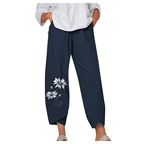 Comfy Pants for Women Crop Pants Jeans with Elastic Waistband Elastic Waist Linen Pants Womens Ankle Pants Black Jogger Pants