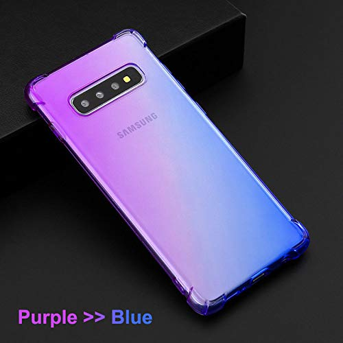 JLFDHR Gradient Color Soft Clear TPU Funda para teléfono móvil para Samsung Galaxy S10 Plus Note10 Pro Samsung A50 A70 Note 8 9 -para Samsung A10-Purple Blue