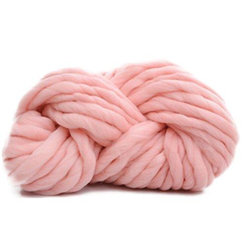 Zituop Super Chunky Roving Bulky Yarn for Hand Knitting Crochet, 250g, 8.8 Ounze (Light Pink)