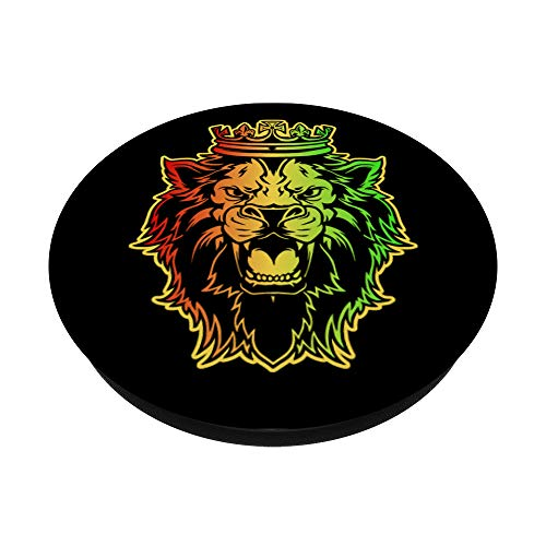 Löwe von Juda - Rasta Jamaican Design - PopSockets Ausziehbarer Sockel und Griff für Smartphones und Tablets