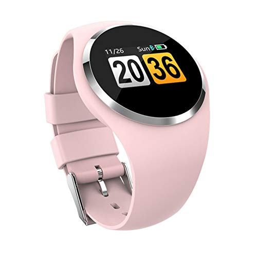 GZA Smart Watch Bluetooth Fitness Tracker Heart Rate Smart Bracelet Waterproof Blood Pressure Monitor Sleep Monitoring Smartwatch (Color : Pink)