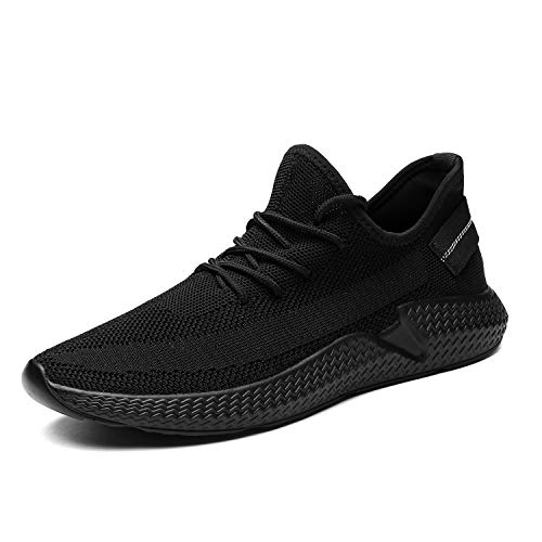Kvovzo Mens Walking Athletic Shoes Comfort Casual Sneaker Trail Running Shoe for Men Tennis Baseball Racquetball Cycling, 1078all/Black, 9.5