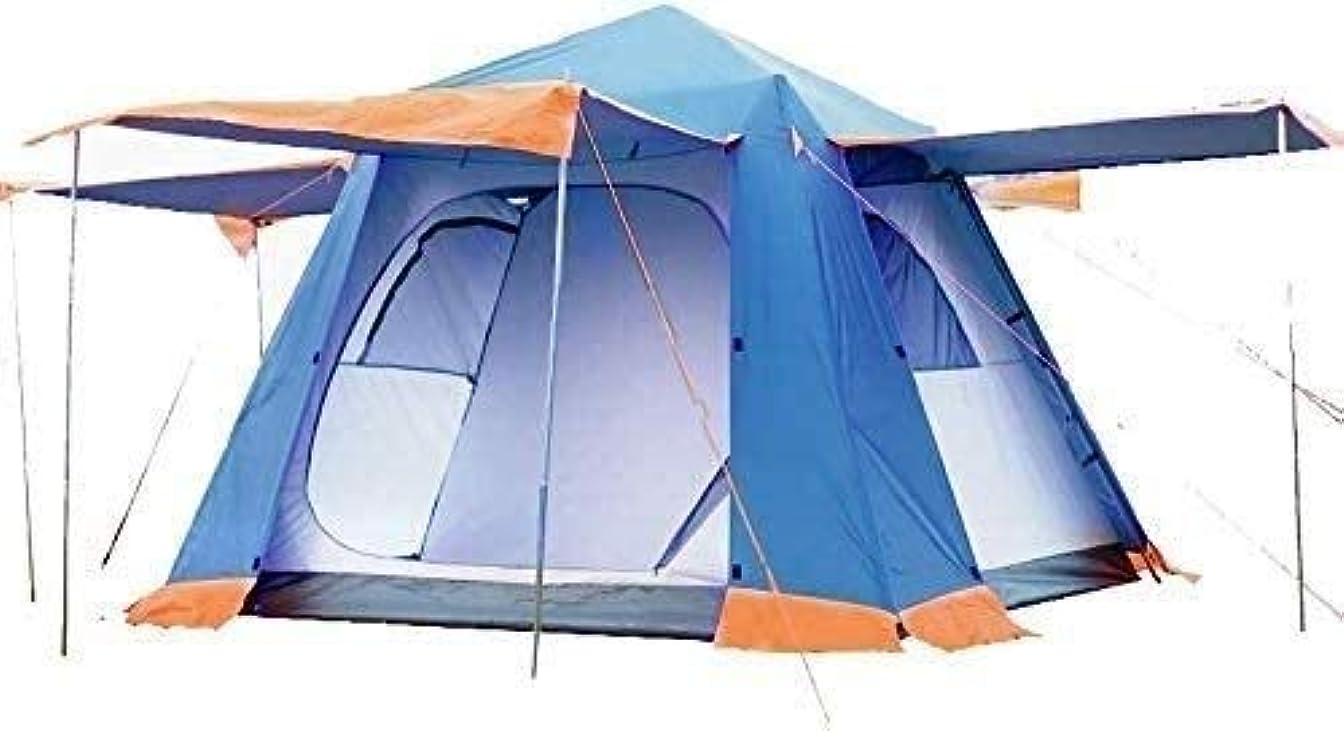 ファイバジェット稼ぐFQCD 防水アウトドアキャンプテントハイキングテント家族4-6人のキャンプのテント,キャンプのための簡単セットアップ、キャンプ?ブルーのためのアウトドアハイキングバックパッキングテントシェルター (Color : Blue)