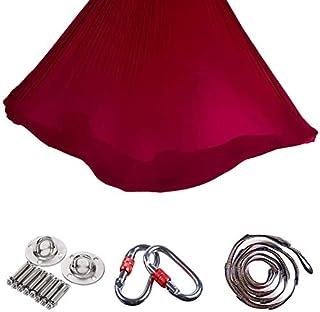 Pilates Yoga Silk Cloth Premium Aerial Silks Equipment Elastic Hammock Safe Permanent Inversion Exercises Silks Swing