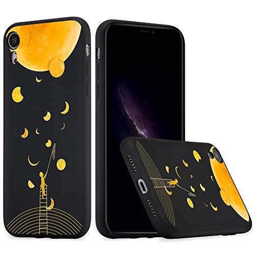 Idocolors Cover per iPhone 7 Plus / 8 Plus Luna Verde Silicone Liquido Morbido Custodia con Fodera Tessile Microfibra Antiurto Bumper Protettiva Case