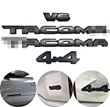 Auto safety Blackout Emblems Overlay KIT Compatible with 2016-2021 Tacoma ABS Plastic(2Taco+V6+4X4)