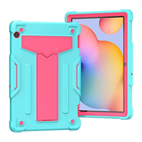 QYiD Case for Huawei MediaPad T5 10, Heavy Duty Shockproof Rugged Case Hard PC+Silicone Protective with Stand for Huawei MediaPad T5 10.1' 2018(AGS2-W09/L09/L03/W19), Aqua/Rose