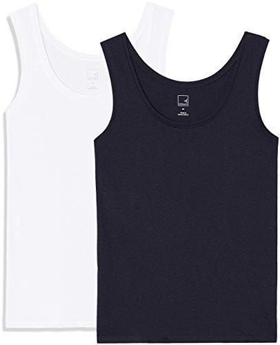 Amazon-Marke: MERAKI Damen Top Ap002, Blau (Night Sky/White), 42, Label: XL