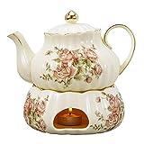 Panbado Set da tè Servizo da Teiere e Caraffe per caffè in Porcellana Ceramica Kungfu da Viaggio...