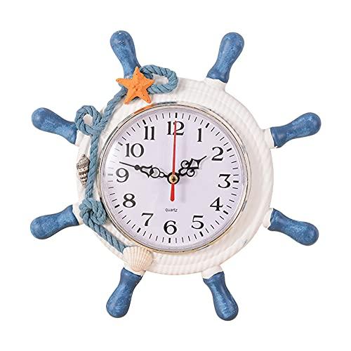 LEERAIN Reloj de pared, diseño náutico de playa