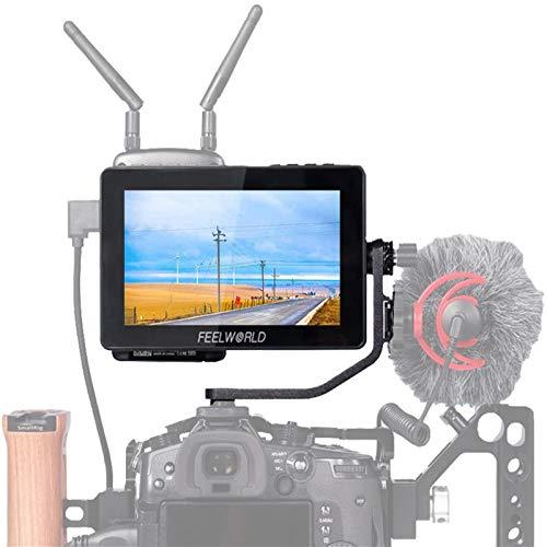 FEELWORLD F5 ProV2 DSLR-Kamera-Feldmonitor, 14 cm (5,5 Zoll), Touchscreen, 3D LUT, 4 K, HDMI-Eingang, Neigungsarm