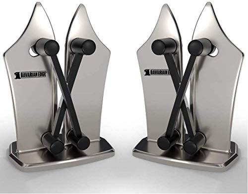 Mediashop Bavarian Edge Messerschärfer 2 STK. – Messerschleifer für alle Messer inkl. Sägemesser – nie mehr Stumpfe Messer mit dem Messerschärfer Profi aus Wolframkarbid