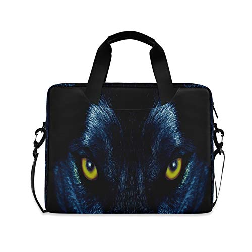Wolf Eyes Laptop Shoulder Messenger Bag with Strap for 15.6 inch 16 inch Laptop Travel-Friendly Briefcase Notebook Computer Sleeve Case
