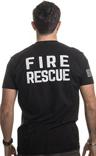 Fire & Rescue Maltese Cross | Firefighter Fire Courage Honor Men Women T-Shirt-(Adult,XL) Black