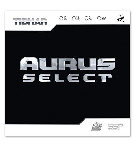 Recubrimiento Tibhar Aurus Select para raqueta de tenis de mesa, Negro , 1.7