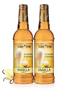 Jordan s Skinny Mixes Jordan s Skinny Syrups Sugar Free Flavoring Syrup Vanilla 25.4 Fl Oz  Pack of 2