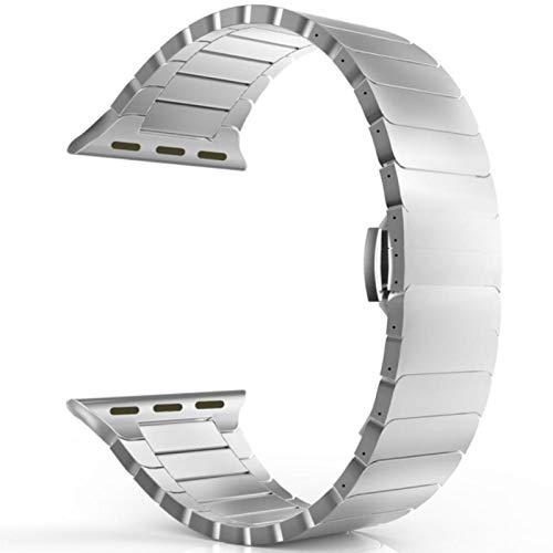 Correa de acero inoxidable para Apple Watch band 44mm 40mm iWatch band 42mm / 38mm Mariposa Pulsera de metal Apple Watch serie 5 4 3 se 6