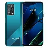 CUBOT X30 Smartphone sin contrato, 4G, 8 GB de RAM + 256 GB de ROM, pantalla HD+ de 6,4 pulgadas, batería de 4200 mAh, cinco cámaras, Dual SIM, Android 10.0, NFC, Face ID, versión global, Gradient+Verde
