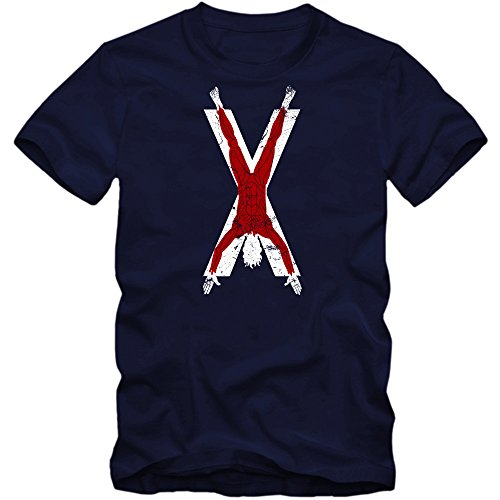 GOT T-Shirt #3 | Herren | Bolton Familien Wappen | TV-Serien-Fun-Shirts, Farbe:Dunkelblau (French Navy L190);Größe:L