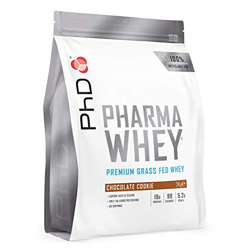 PhD Pharma Whey Protein Powder, Chocolate Cookie, 2 kg