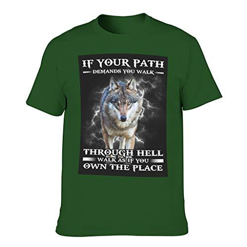 Relaxident Camiseta de algodón para hombre, diseño de lobo Cool Individuality
