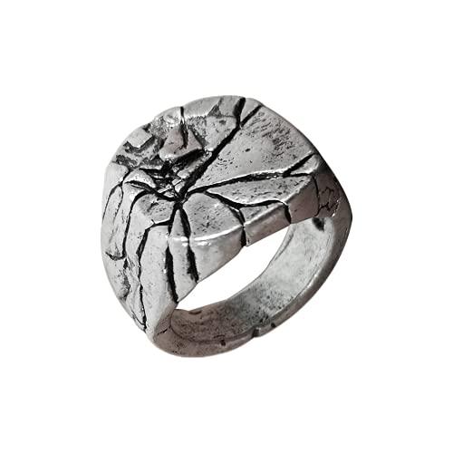 Retro-Schmuck Legierung rissiger Schmuck Herren Dominering Persönlichkeit quadratischer Index Finger Ring Zeigefinger, 11, Nicht-Edelstein.,