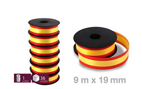 6 Rollos de Cinta Decorativa con la Bandera España para regalos, lazos, pulseras, flores - 5,5 m x 19 mm